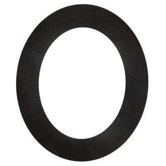Ashland Oval Frame # 853 - Black Silver