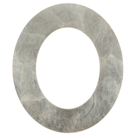 Tribeca Oval Frame # 854 - Silver Leaf with Brown Antique