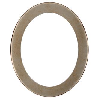 Avenue Oval Frame # 862 - Burnished Silver
