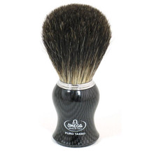 Omega Shaving Brush with pure badger bristles