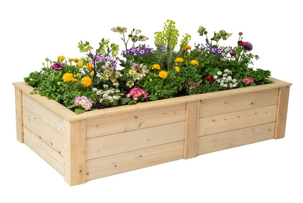 Rectangle Raised Bed with Trim Pack 3'x6'x16.5""
