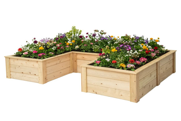 U-Shaped Raised Bed with Trim Pack 3'x6'x9'x16.5""