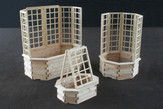 Octagon Planters with Trellis options