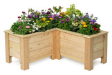 "L-Shaped Planter Box 20""x48""x48""x22.5"""
