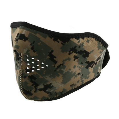 Ski Half Face Mask - Digital Green - Front