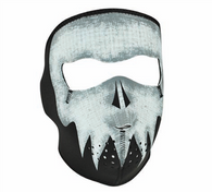 Glow in the Dark Ghost Skull Neoprene Face Mask