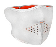 High-Vis Orange/ Reversible to White Ski Half  Face Mask