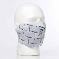 Metal Diamond Plate Half Ski Mask