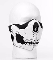 3D Skull Mouth Neoprene Half Face Mask