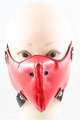 Menstrual Leather Half Face Mask