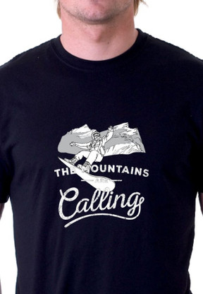The Mountain Are Calling Snowboarding Shirt