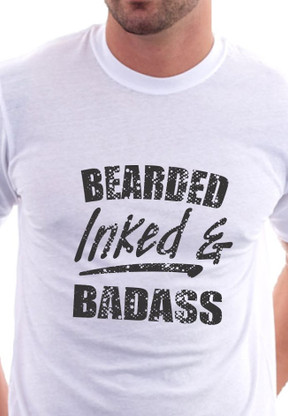 Bearded Inked and Badass Shirt