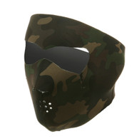 Woodland Camouflage Ski Face Mask Front View