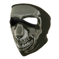Chrome Skull Ski Face Mask