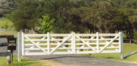 Double Estate Gates - 4.8m (after painting)