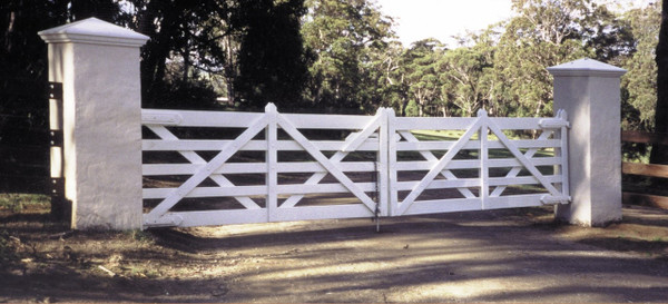 Double Estate Gate - 7.2m (after painting)