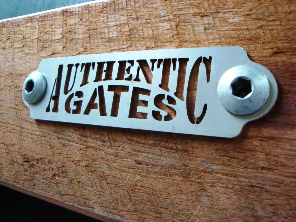 Mark of quality - Stainless Steel Authentic Gates badge