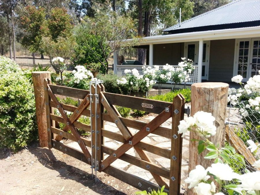 5-Rail Double Farm Gate - custom made to suit 2.6m opening