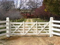Vineyard Gate - 3.6m (after painting)