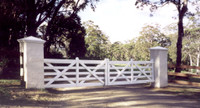 Double Estate Gate - painting by others