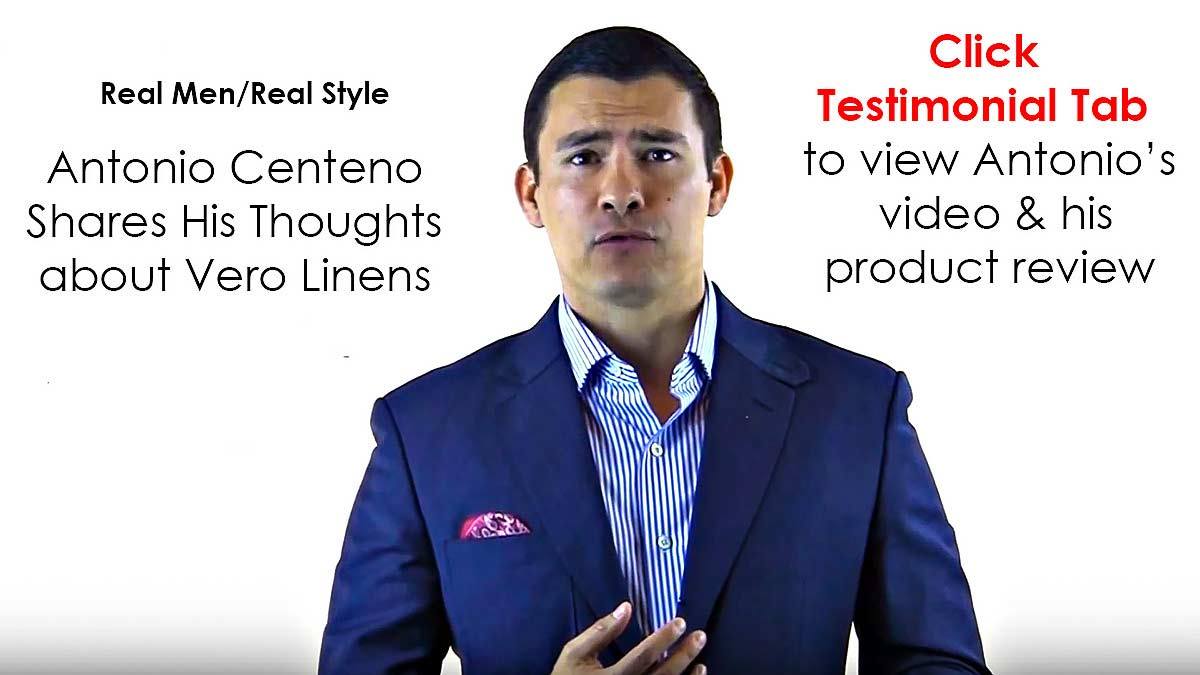 Our luxury bed linens are endorsed by many including Men's Journal Magazine & Antonio Centeno of Real Men/Real Style.