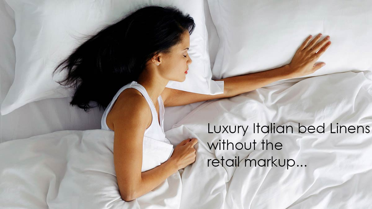 The finest and softest hand-crafted luxury Italian bed linens and more.