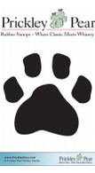 Paw Print - Red Rubber Stamp