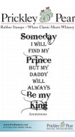 Find My Prince - Red Rubber Stamp