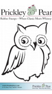Ollie the Owl - Red Rubber Stamp
