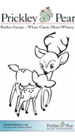 Reindeer Kisses, Small - Red Rubber Stamp