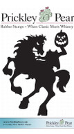 Headless Horseman, Small - Red Rubber Stamp