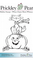 Halloween Scribble Kitty, Small - Red Rubber Stamp