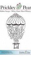 Pumpkin Balloon, Small - Red Rubber Stamp