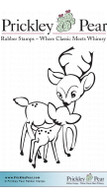 Reindeer Kisses - Red Rubber Stamp