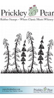 Funky Forest - Red Rubber Stamp