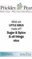 Little Girls - Red Rubber Stamp