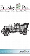 Antique Car - Red Rubber Stamp