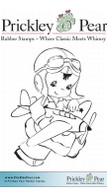 Boy with Airplane - Red Rubber Stamp