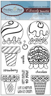 Build an Ice Cream Cone Set - Clear Stamp Set