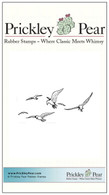 Seagulls - Red Rubber Stamp