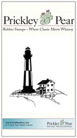 Lighthouse with House - Red Rubber Stamp
