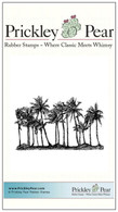 Palm Trees - Red Rubber Stamp