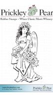 Vintage Angel - Red Rubber Stamp