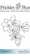 Amaryllis - Red Rubber Stamp