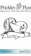 Paris Heart - Red Rubber Stamp