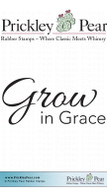 Grow in Grace - Red Rubber Stamp