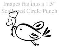 Love Bird - Red Rubber Stamp