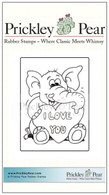 Vintage Valentine - Elephant - Red Rubber Stamp