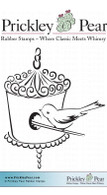 Bird with Birdhouse - Red Rubber Stamp