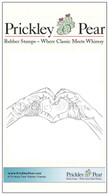 Heart Hands - Red Rubber Stamp